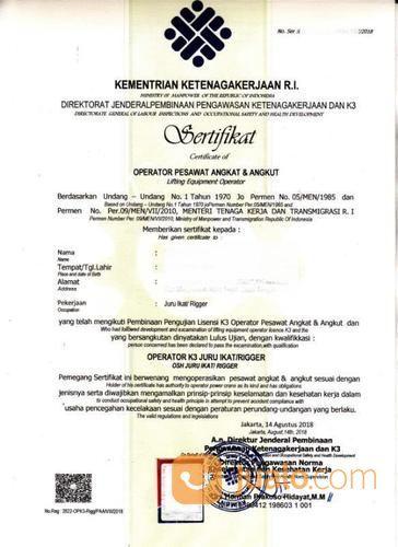 Jasa Kepengurusan Surat Izin Operator Rigger Juru Ikat (18960123) di Kota Bekasi
