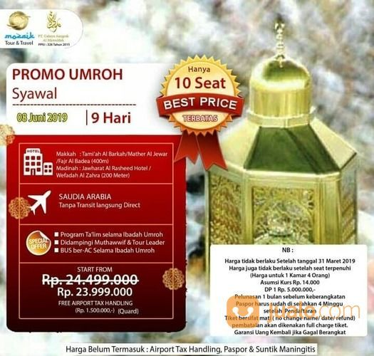 Promo Paket Umroh Bulan Syawal 2019 (19004427) di Kota Surabaya