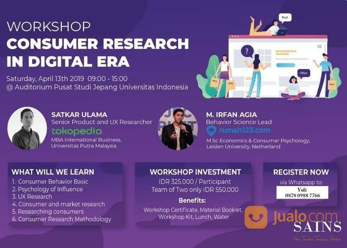 Workshop Consumer Research In Digital Era (13 April 2019) (19432203) di Kota Depok
