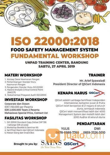 Workshop ISO 22000 Food Safety Management System (27 April 2019) (19432431) di Kota Bandung