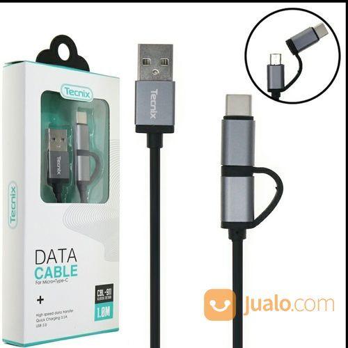 Kabel Data Kabel Charge Fast 3.1A 2in1 Micro Plus Type C (19489239) di Kota Pontianak