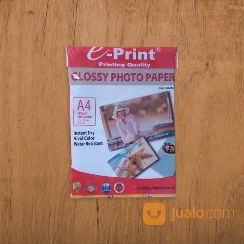 Kertas Glossy Paper E-Print A4 120gsm / 100lembar (19509639) di Kab. Banjarnegara