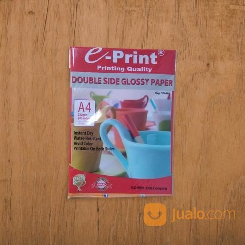 Kertas Double Side Glossy E-Print A4 230gsm (19509723) di Kab. Banjarnegara