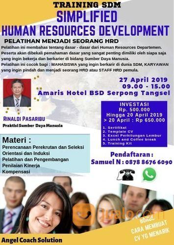 Pelatihan Simplified Human Resources Developmant (19624251) di Kota Tangerang Selatan