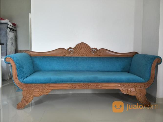 Kursi Sofa Kayu Jati Ukir Hijau Tosca (19649047) di Kota Tangerang Selatan