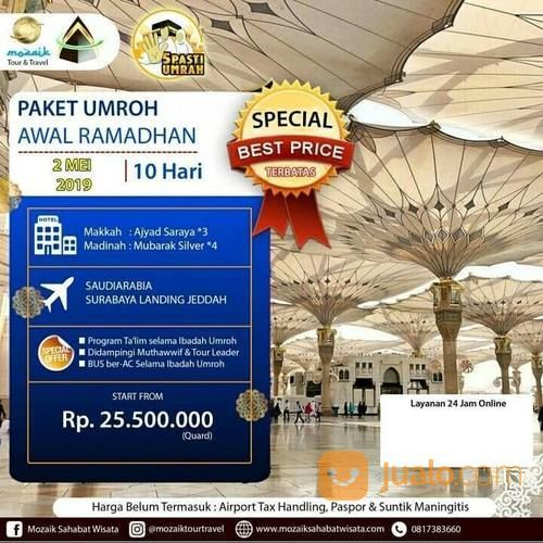 Paket Promo Umroh Di Awal Ramadhan 2019 (19686343) di Kota Surabaya