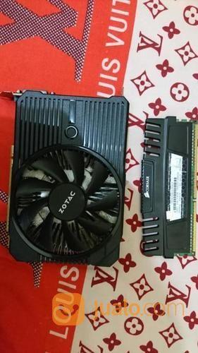 RAM DDR3 4GB Corsair + VGA Nvidia 1050 Ti Single Fan (19726799) di Kota Surabaya