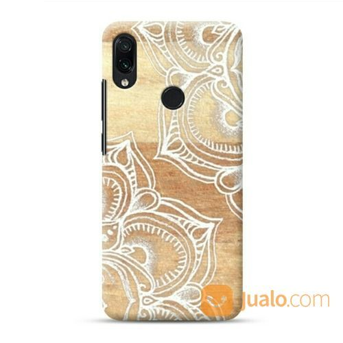 White Doodles On Blonde Wood Natural Nude Colors Xiaomi Redmi Note 7 Custom Hard Case (19856163) di Kota Bekasi