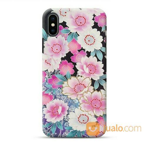 Japanese Flower IPhone XS Max Custom Hard Case (19903659) di Kota Bekasi