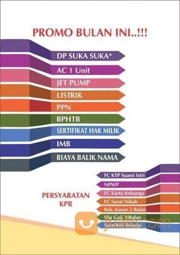 BAYAR 3 Juta Dapat Rumah FREE PAJAK (19904319) di Kota Tangerang