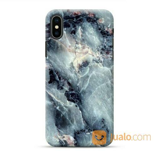 Navy Blue Marble Background IPhone XS Max Custom Hard Case (19919655) di Kota Bekasi