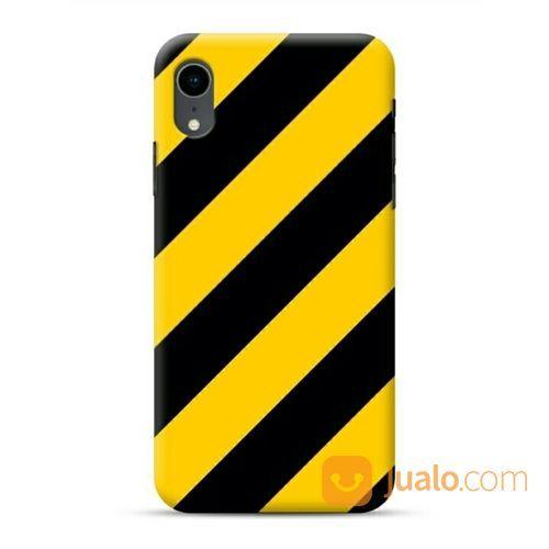 Yellow Stripes IPhone XR Custom Hard Case (20048943) di Kota Bekasi