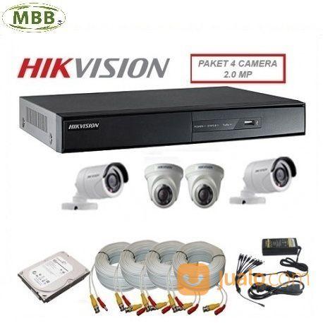 MBB Paket Hikvision CCTV 4 Titik Kamera Termurah 2019 (20083887) di Kota Surabaya