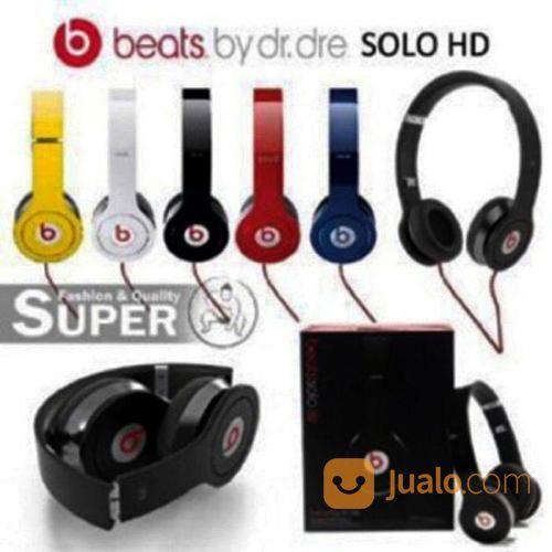 Headset Bando Beats Solo HD Beat Dr Dre Bando Monster Audio Ear Phone (20095371) di Kota Surabaya