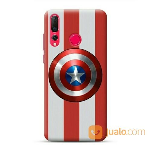Captain America Shield Stripes Huawei Nova 4 Custom Hard Case (20119771) di Kota Bekasi