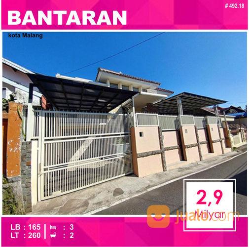 Rumah 2 Lantai Luas 260 Daerah Bantaran Suhat Kota Malang _ 492.18 (20136087) di Kota Malang