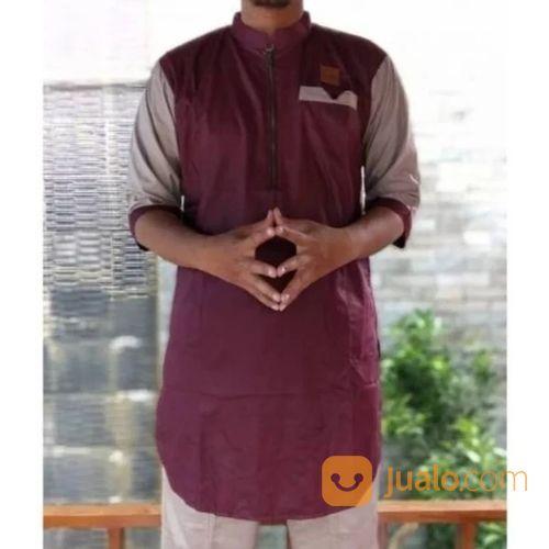 Koko Kurta Reglan Zipper Bahan Spunpoly Gamis Pria (20147663) di Kota Bekasi