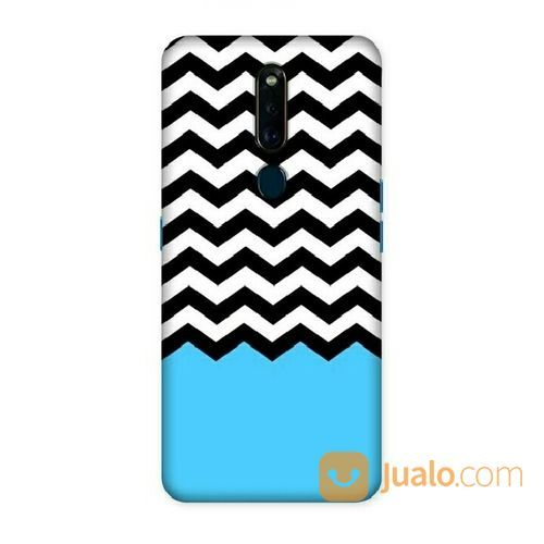 Blue, Black & White Chevron Oppo F11 Custom Hard Case (20277799) di Kota Bekasi