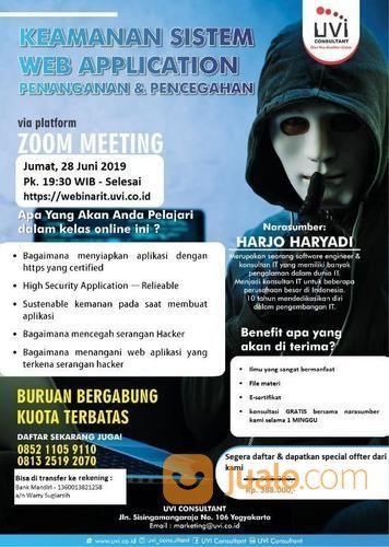 LIVE WEBINAR - Keamanan Sistem Web Application (20287503) di Kota Yogyakarta