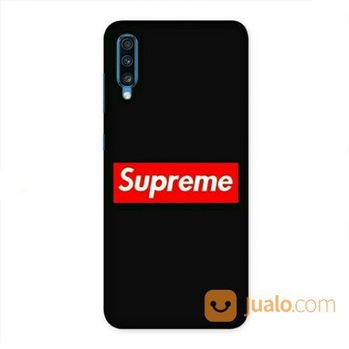 Supreme Black Samsung Galaxy A70 Custom Hard Case (20307759) di Kota Bekasi
