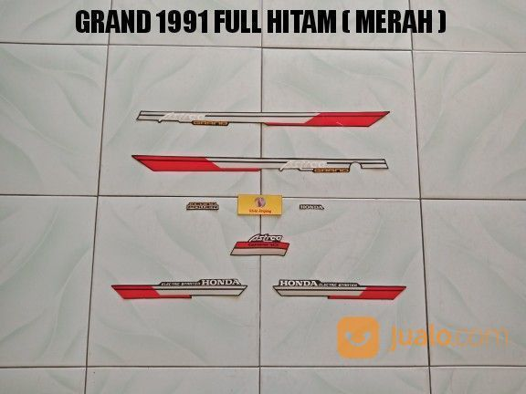 Striping Grand 1991 Full Hitam ( Merah ) (20310171) di Kota Jambi