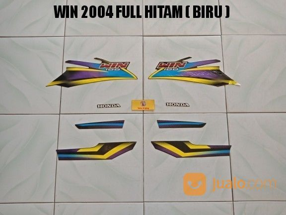 Striping Win 2004 Full Hitam ( Biru ) (20321855) di Kota Jambi