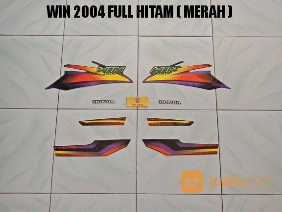 Striping Win 2004 Full Hitam ( Merah ) (20321879) di Kota Jambi