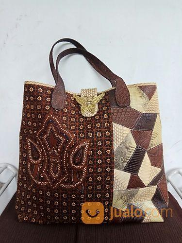 Authentic New Tas Batik Chic Branded Kulit Ular Asli Batik Size Besar (20422575) di Kota Depok