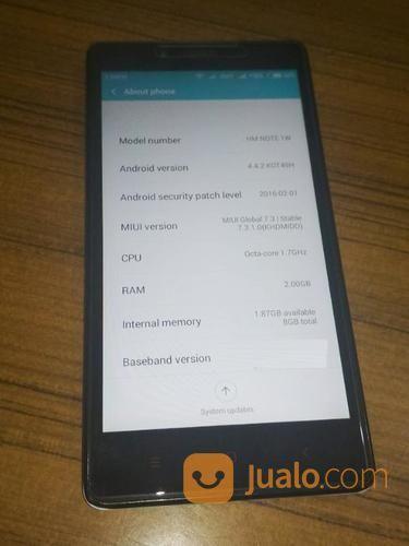 Handphone XIAOMI REDMI NOTE RAM 2GB/ ROM 8GB Bekas - Murah (20539027) di Kota Bekasi