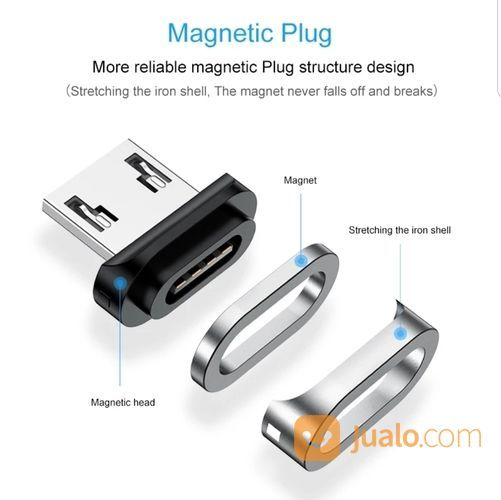 Kabel Charger Hp Ponsel Magnet 4 Pin Merk Elough QC3.0 Quick Charging (20551995) di Kota Depok