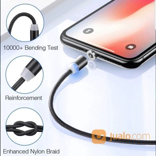 Kabel Charger Magnet HP Ponsel Android Iphone LED (20552059) di Kota Depok