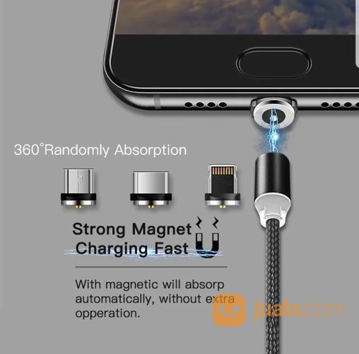 Kabel Charger Magnet HP Ponsel Android Iphone LED (20552063) di Kota Depok