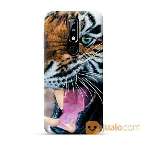 Snarling Tiger Nokia 5.1 Plus Custom Hard Case (20607299) di Kota Bekasi