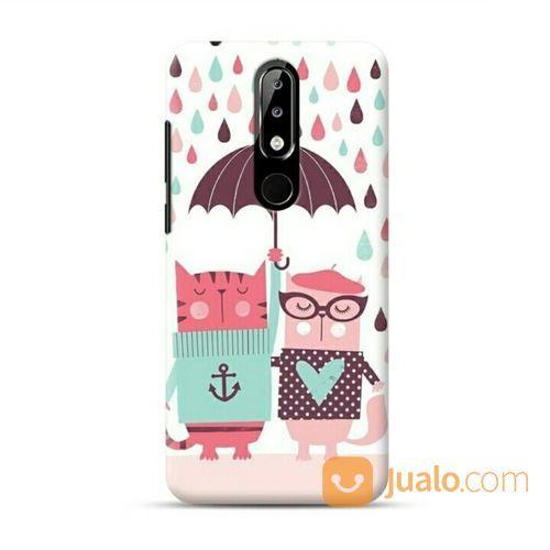 Cats Under The Umbrella Nokia 5.1 Plus Custom Hard Case (20621475) di Kota Bekasi