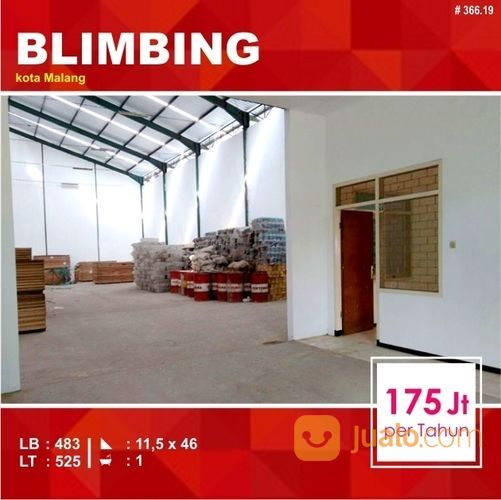 Gudang + Kantor Sewa Luas 525 Daerah Blimbing Kota Malang _ 366.19 (20666083) di Kota Malang