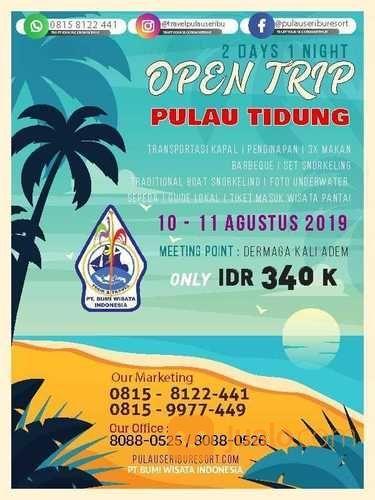 Open Trip Pulau Tidung 2D 1N (20669047) di Kota Jakarta Timur