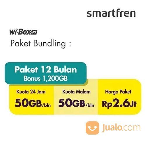 Home Router Modem Wifi 4G Smartfren MiFi WIbox 1200GB 12 Bulan (20697471) di Kota Jakarta Utara