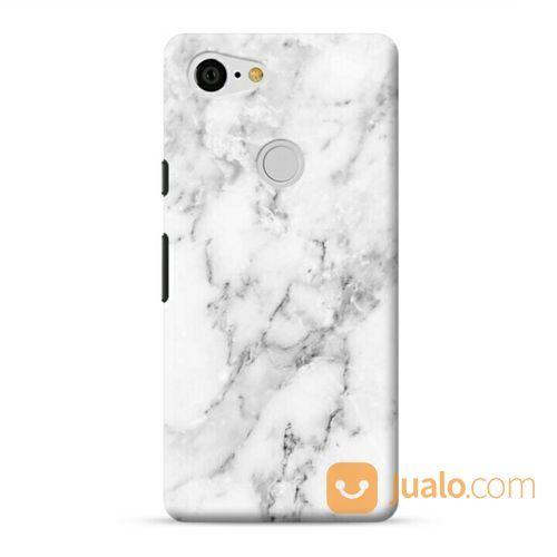 Natural White Marble Google Pixel 3 XL Custom Hard Case (20701087) di Kota Bekasi