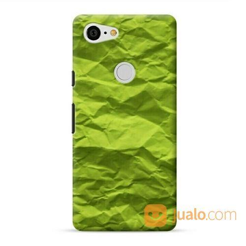 Green Texture Paper Google Pixel 3 XL Custom Hard Case (20711399) di Kota Bekasi