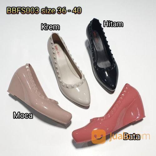 Sepatu Cewe Wanita Karet Jelly Barabara Wedges Paku Cucuk Formal Kerja (20717211) di Kota Sukabumi