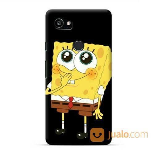 Spongebob Black Google Pixel 2 XL Custom Hard Case (20771115) di Kota Bekasi
