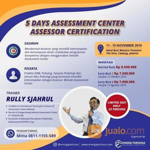 5 Days Assessment Center Assessor Certification (20831895) di Kota Jakarta Timur
