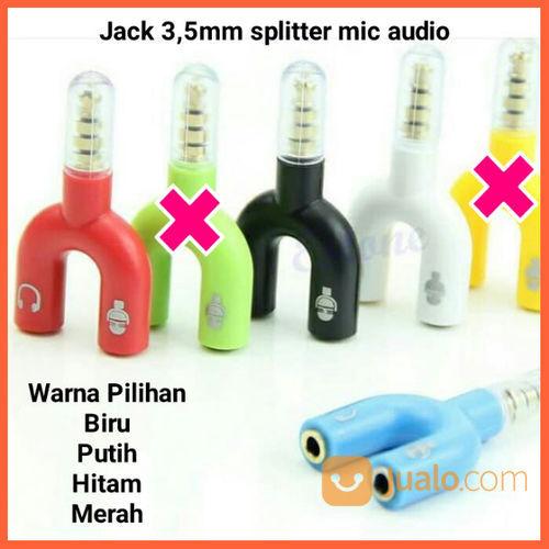 Audio Splitter Jack 3.5mm To Dual Female U 2in1 (Mic & Audio) (20878179) di Kab. Grobogan