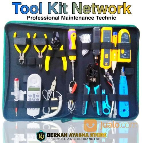 Toolkit Set Tool Kit Network Profesional Tas Peralatan Teknik Jaringan Komputer Lan Telepon Surabaya Jualo