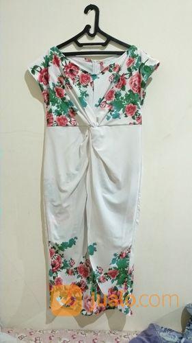 Floral dress big size wanita 20895315