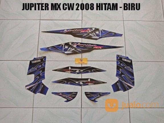 Striping Jupiter MX CW 2008 Hitam - Biru (20944439) di Kota Jambi