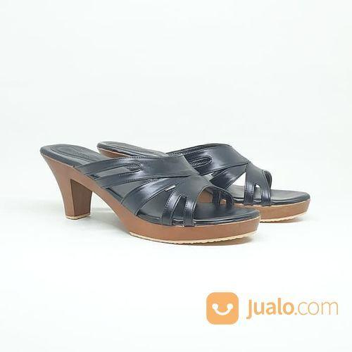 Sandal Sendal Cewe Wanita Kayu Mahoni Heels Arunni Selop Kelom (21051483) di Kota Sukabumi