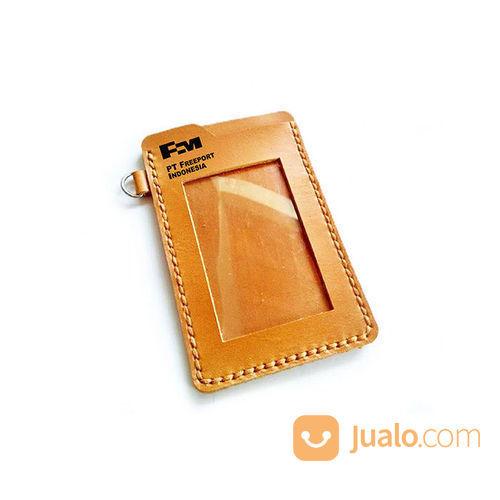 Name Tag Kulit Asli Logo PT. FREEPORT INDONESIA Garansi 1 Tahun - Tempat Id Card. Gantungan Id Card (21051779) di Kota Jayapura