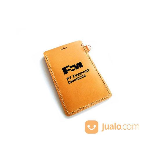Name Tag Kulit Asli Logo PT. FREEPORT INDONESIA Garansi 1 Tahun - Tempat Id Card. Gantungan Id Card (21051783) di Kota Jayapura