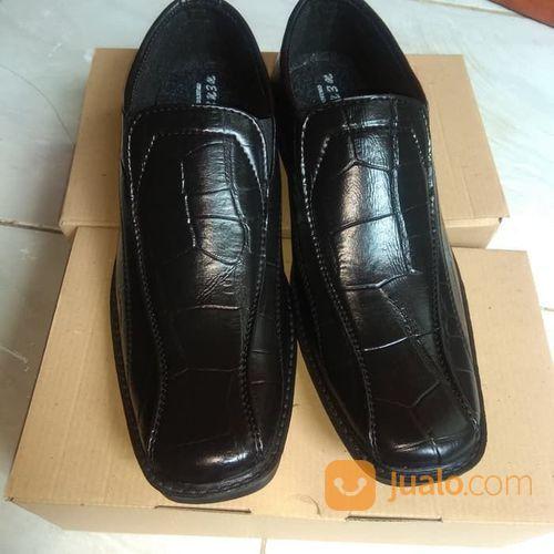 Sepatu Cowo Pria Resmi Kantor Formal Kulit Buaya Pantofel (21102955) di Kota Sukabumi